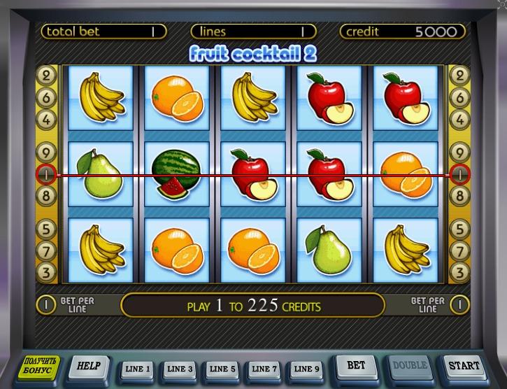 cocktail fruit онлайн демо казино