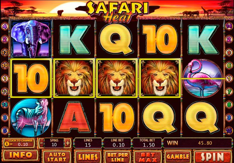 игровой автомат safari heat novomatic